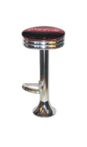1500-49-NS-FT - 505 Coca Cola Retro Barstool - Floor Mounted