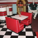 Child's Diner Booth in Red