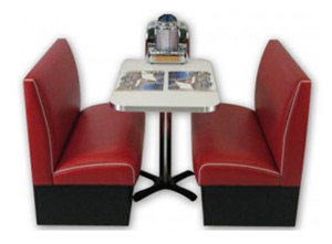 Americo - Economy Retro Diner Booth Set