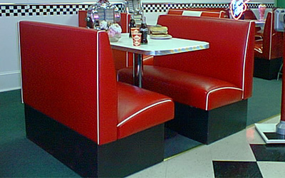 Drive In Diner Booth Set & Drive In Diner Booth Set: Retro Commercial Quality 1950u0027s