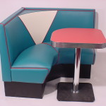 Vintage V-4300 - 1/4 L Shape Diner Booth