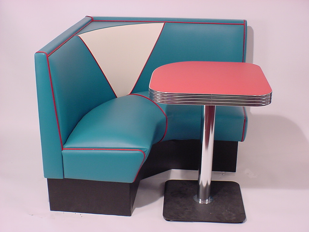 Half circle booths restaurant diner retro 1950 39 s kitchen - Kitchen corner booth ...
