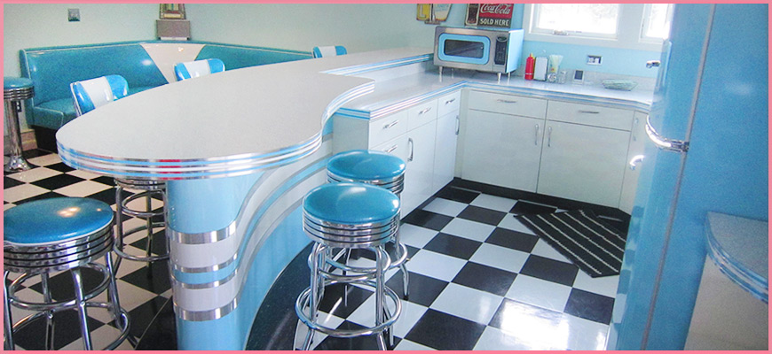 American 50 39 s style on pinterest 50s diner diner for 50s diner style kitchen