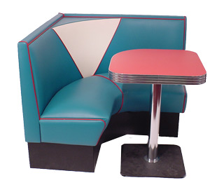 Vintage Series Model V-4300 1/4 Circle Diner Booth
