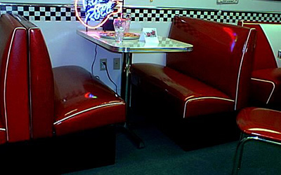 Gateway Series Model GY-1 - Soda Fountain Diner Booth in Zodiac Vinyls