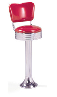 1500-782-RB Retro Barstool - Floor Mounted