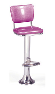 1500-921 Retro Barstool - Floor Mounted