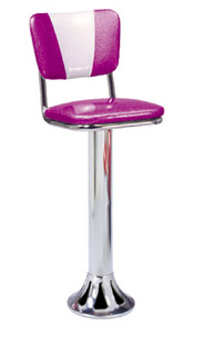 1700-921-V Retro Teardrop Barstool - Floor Mounted