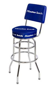 Retro Logo Barstool with Back