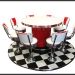 Round  Dinette Set with Floor - Photoshopped