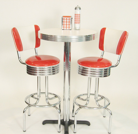 Pub Table Set U2013 Red