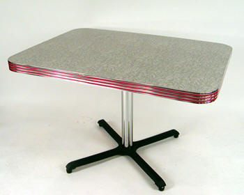Retro Rectangular Tables Boomerang Cracked Ice