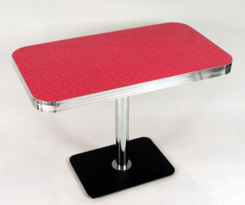 Retro Rectangular Tables Boomerang Cracked Ice Commercial Quality - Rectangular retro diner table