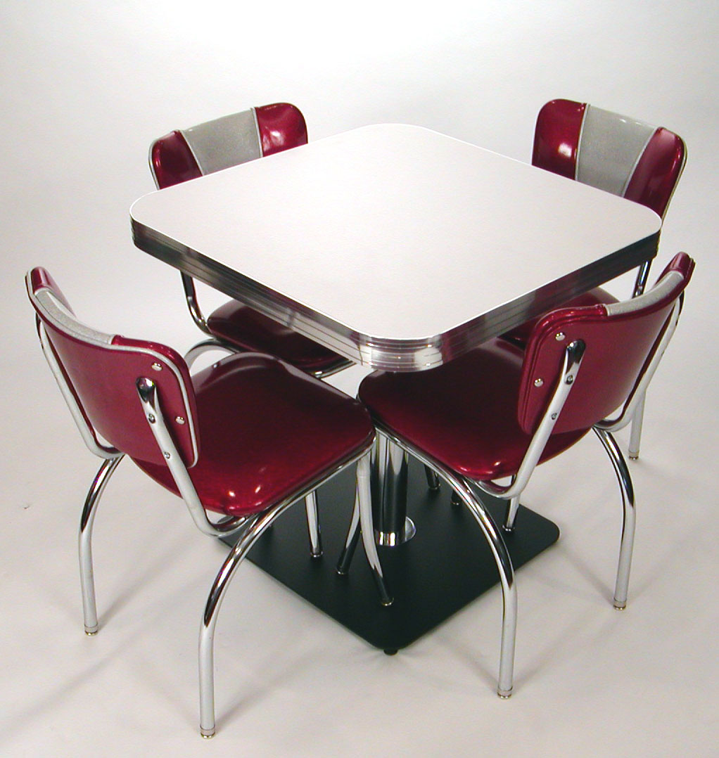 square tables: retro style, boomerang, cracked ice, commercial quality