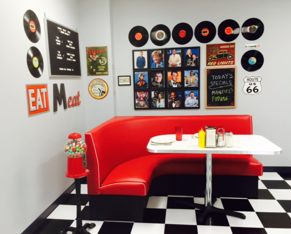"""Americo Diner Booth - """"L"""" Series"""