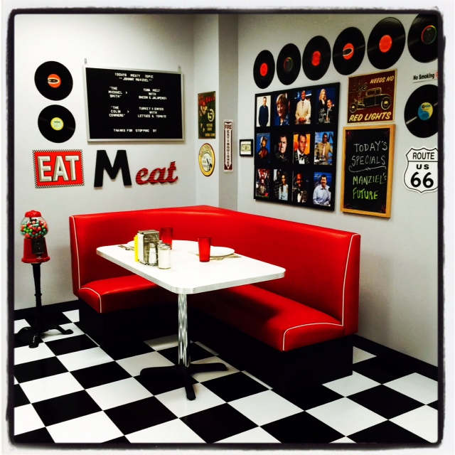 "Americo Diner Booth - ""L"" Series"