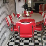 Oval Retro Dinette Set