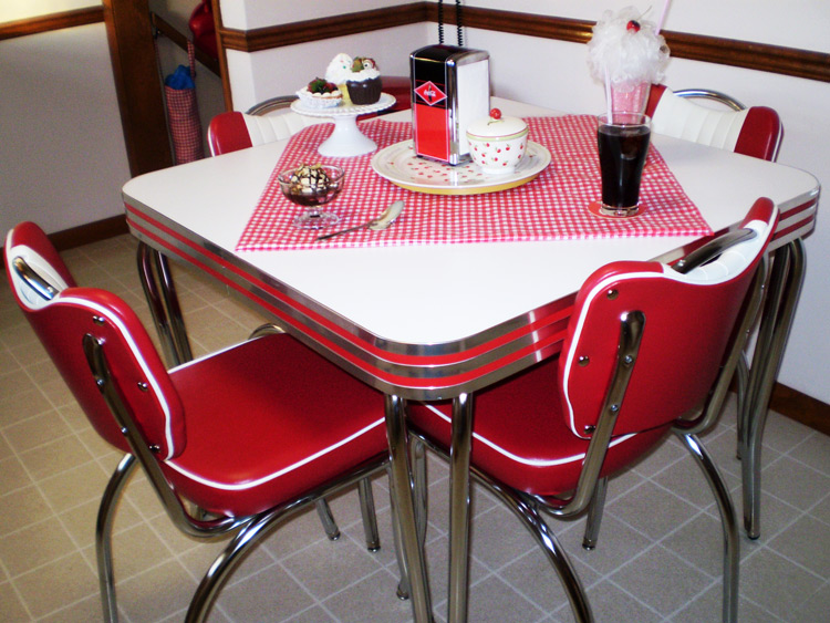 82 retro kitchen dinette sets cracked ice table and - Vintage formica kitchen table and chairs ...
