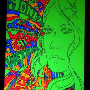 American Woman Black Light Poster