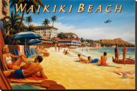 1207 Waikiki Beach Tin Sign