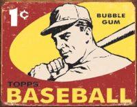 1404 Baseball 1c Tin Sign