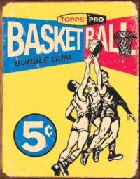1405 Basketball Tin Sign