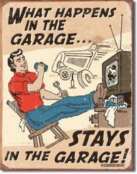 1496 Garage Tin Sign