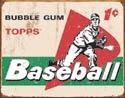1644 Baseball Tin Sign