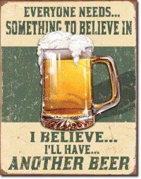 1686 Beer Tin Sign