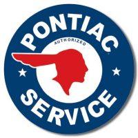 184 Pontiac Service Tin Sign