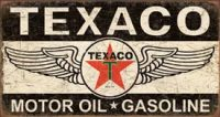 1896 Texaco Winged Logo Metal Sign