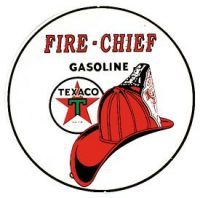 204 Fire Chief Gasoline Tin Sign
