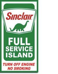 2050 Sinclair Tin Sign