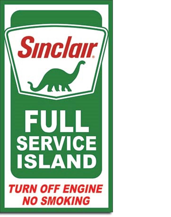 Sinclair Service Island Tin Sign 187 Bars Amp Booths