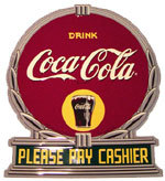 Coca-Cola Please Pay Cashier Reproduction Sign
