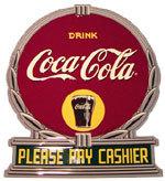 Coca-Cola Please Pay Cashier Reproduction Sign