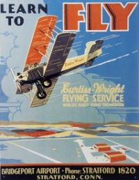 237 Learn To FLy Tin Sign