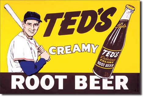 Ted S Creamy Root Beer Tin Sign 187 Bars Amp Booths