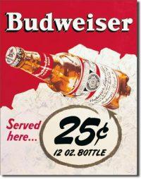 981 Budweiser Tin Sign