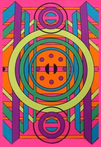 333 Black Light Poster 1969