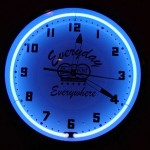 Delivery Chef Custom Blue Clock