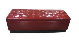 Settee in Red Sparkle Vinyl