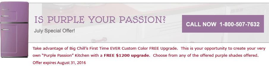 big chill special purple color upgrade