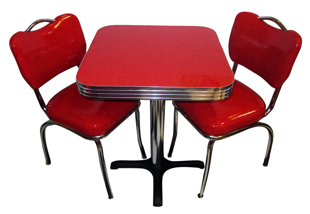 Retro Cafe Seating: Restaurant, Home, Chrome, Diner, Table ...
