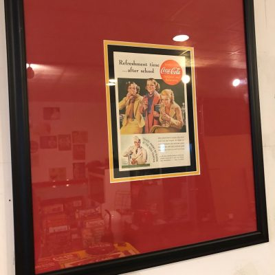 Coke Framed Ad - After School
